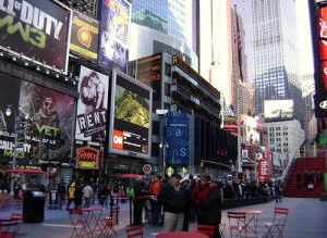Advertising in Times Square